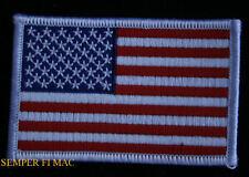 3 1/4 X 2 USA FLAG TOP GUN PATCH US MARINES NAVY USAF