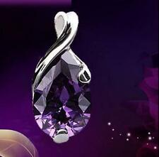 Elegant GEMSTONE Natural Crystal Heal Point Stone Amethyst Pendant Women Jewelry