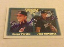 1997 Topps 478 Danny Peoples Jake Westbrook Dual Autographed Auto Signed Card