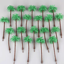 20pcs Layout Model Train Coconut Palm Trees Scale HO 13CM Beach Street Diorama