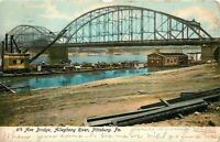 Pittsburg PA~6th Ave Bridge Allegheny River~Second Pool Coal Co~1906 PC