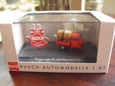 RARE Busch HO 1/87 Piaggio Ape 50 Busch 15 Jahre Jubilaumsmodell 48466 NIP