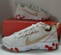 Nike Wmns React Element 55 White Desert Ore Women Running Shoes BQ2728-601 S 9.5