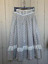 New listing Vintage Jessica's Gunnies Gunne Sax Prairie Skirt Tie Front Floral Print