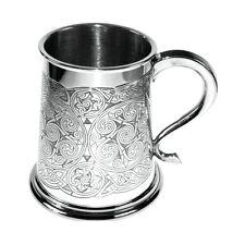 Celtic Spirals Design English Pewter Tankard kelt knot swirl pattern (277) BNIB