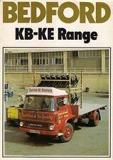 Bedford KB KC KD KE Truck 1975-76 UK Market Sales Brochure 4 & 6 Wheeler
