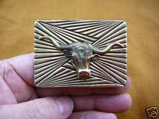 (B-steer-1) LONGHORN STEER horns BULL COW brass pin pendant BULLS