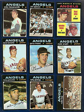 1971 Topps Lot of 47 Angels (23) Padres (24) w/ Hi #s 666 686 696 697 745
