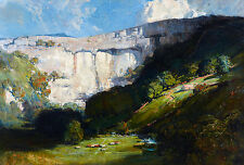 Arthur Streeton, Malham Cove 1911, Fade Resistant HD Art Print or Canvas