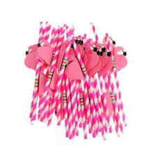 25pcs Funny Flamingo Striped Straws Luau Tropical Beach Hen Party Barware