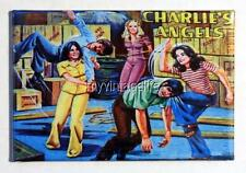 """Vintage CHARLIE'S ANGELS TV SHOW Lunchbox 2"""" x 3"""" Fridge MAGNET Art side B"""