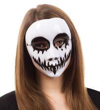 Adulto Máscara De Calavera Blanca Fantasma veneciano cara Scary Halloween Vestido de Fantasía Horror