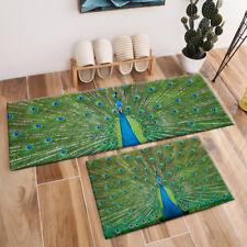 Peacock Feathers Custom Area Rugs Home Decor Non-Slip Floor Mat Crawling Carpets
