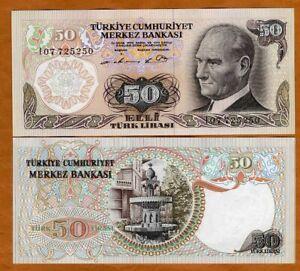Turkey, 50 Lira, L. 1970 (1976), P-188, UNC