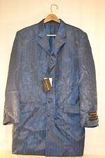 Gianni Vironi Superior 100s Blazer Party Jacket Men's 42L Blue 100% Polyester