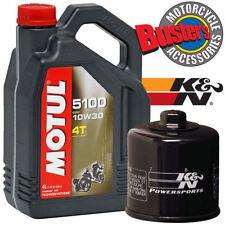 SUZUKI GSF1200 BANDIT 96-06 Motul 5100 Oil and K&N Filter Kit