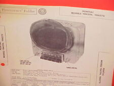 1949 1950 PONTIAC STREAMLINER CHIEFTAIN CONVERTIBLE AM RADIO SERVICE SHOP MANUAL