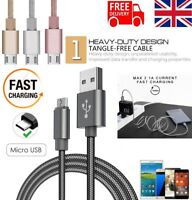 Fast Charge Braided 1M/2M/3M Micro USB Sync Cable Charger For Android Samsung LG