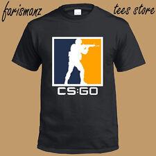 New Counter Strike Online Game CS:GO Logo Men's Black T-Shirt Size S to 3XL