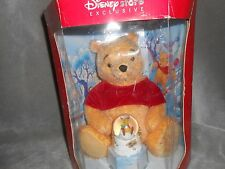 DISNEY STORE EXCLUSIVE SPECIAL EDITION CHRISTMAS HOLIDAY POOH w/ SNOWGLOBE
