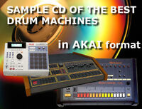 AKAI Sample CD : analog electronic Drum Machines Linn Emu Akai Roland Tr 808 909