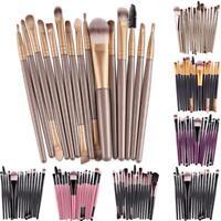 15Pcs Makup Brushes Tool Set Eyeshadow Eye Brush Kits hv2n