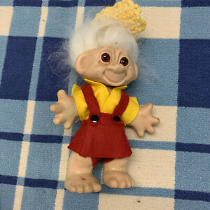 Vintage 1960s Troll Doll Figure USA Foreign Pats Pending Dam Figure