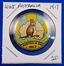 Original Vintage Wwi Ww1 1917 Australia Day Pin Pinback Button