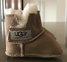 7342f706efe UGG AUSTRALIA Baby Unisex Beige Sheepskin Soft Sole Booties Size M (3-6  months