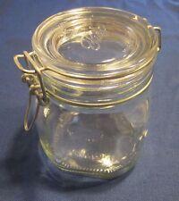 New listing Bormioli Rocco Fido Square Jar w/Round Lid 3/4 Liter Gasket missing