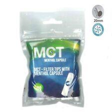 1 Sachet MCT de 100 Filtres Menthol avec Capsule pour cigarette à rouler