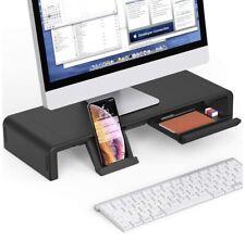 EURPMASK Computer Monitor Stand Desktop Riser Adjustable Foldable Width Storage