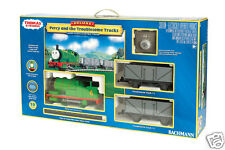 Large Scale G Bachmann 90069 Percy and the Troublesome Trucks Train Set