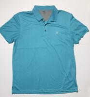 Men's IZOD Performance Cool FX Golf Polo Short Sleeve Shirt Teal XL