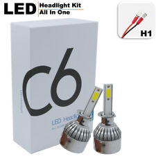 2pc H1 72W 7600LM COB LED C6 Headlight Kit Car Light Bulbs Fog Lamps White