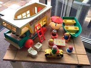 Fisher Price Vintage Play Family Camper Van