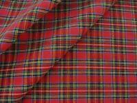 Royal Stewart Red Christmas Tartan Plaid Rag Quilt Cotton Homespun Fabric
