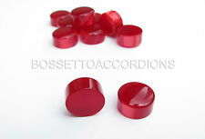 Accordion Buttons Red Pearl 13.8x7.5 (mm)