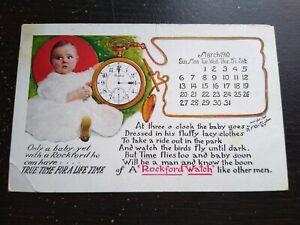 1910 Rockford Watch W.D. Campbell Jeweler Wolcott NY Advertising Photo Postcard