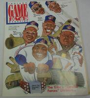 Indians Game Face Magazine Mark Whiten & Kenny Lofton 1992 Souvenir 072014R