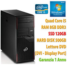 PC COMPUTER DESKTOP RICONDIZIONATO P710 QUAD CORE i5 RAM 8GB SSD 120GB HDD 500GB