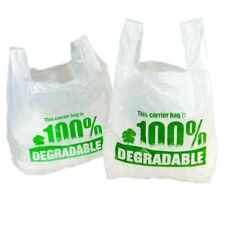 More details for 100% white degradable carrier bags   plastic/shopping/stores/material/vest eco