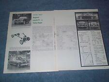 1960 Borgward Isabella TS & Station Wagon Vintage Road Test Info Article