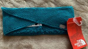 The North Face Knit Fleece Simply Best Headband Earband Harbor Blue winter snow