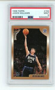 1998-99 Topps Jason Williams #153 PSA 9 MINT Rookie RC Basketball Card