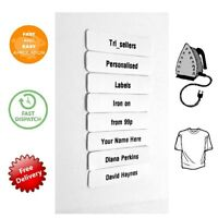 Iron-on School Name Labels Personalised Quality School Labels Multiple