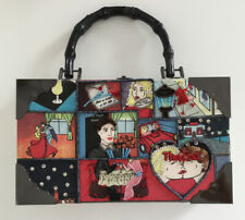 Vintage Comic S Wearable Art Cigar Box Con Cuentas Bolso Bolso de mano