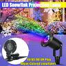 Flocon Neige LED Projecteur Laser en Mouvement Fée Lumière Noël Jardin Décor
