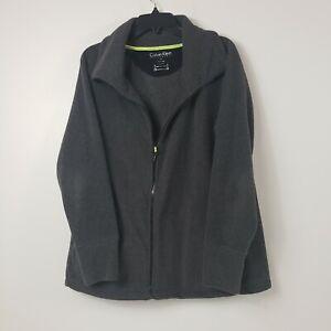 Calvin Klein Performance Fleece Jacket 1X Womens Womens Gray Pockets Full Zip