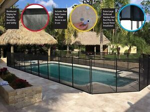 """4' x 12'  Safety Pool Fence (48"""" H), Black WaterWarden WWF200       FENCE ONLY"""